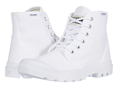 Palladium Pampa Hi Originale (White/White) Lace-up Boots