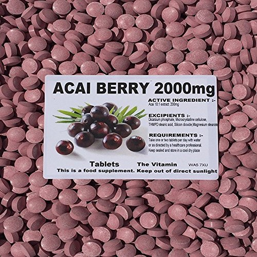The Vitamin Acai Berry 2000mg (180 Tablets - Bagged)