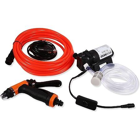 12v Auto Hochdruckpumpe Elektrische Autowäscher Tragbare Autowaschanlage Set Auto Sprayer Mit Wasserpumpe 80w 130psi Für Auto Auto
