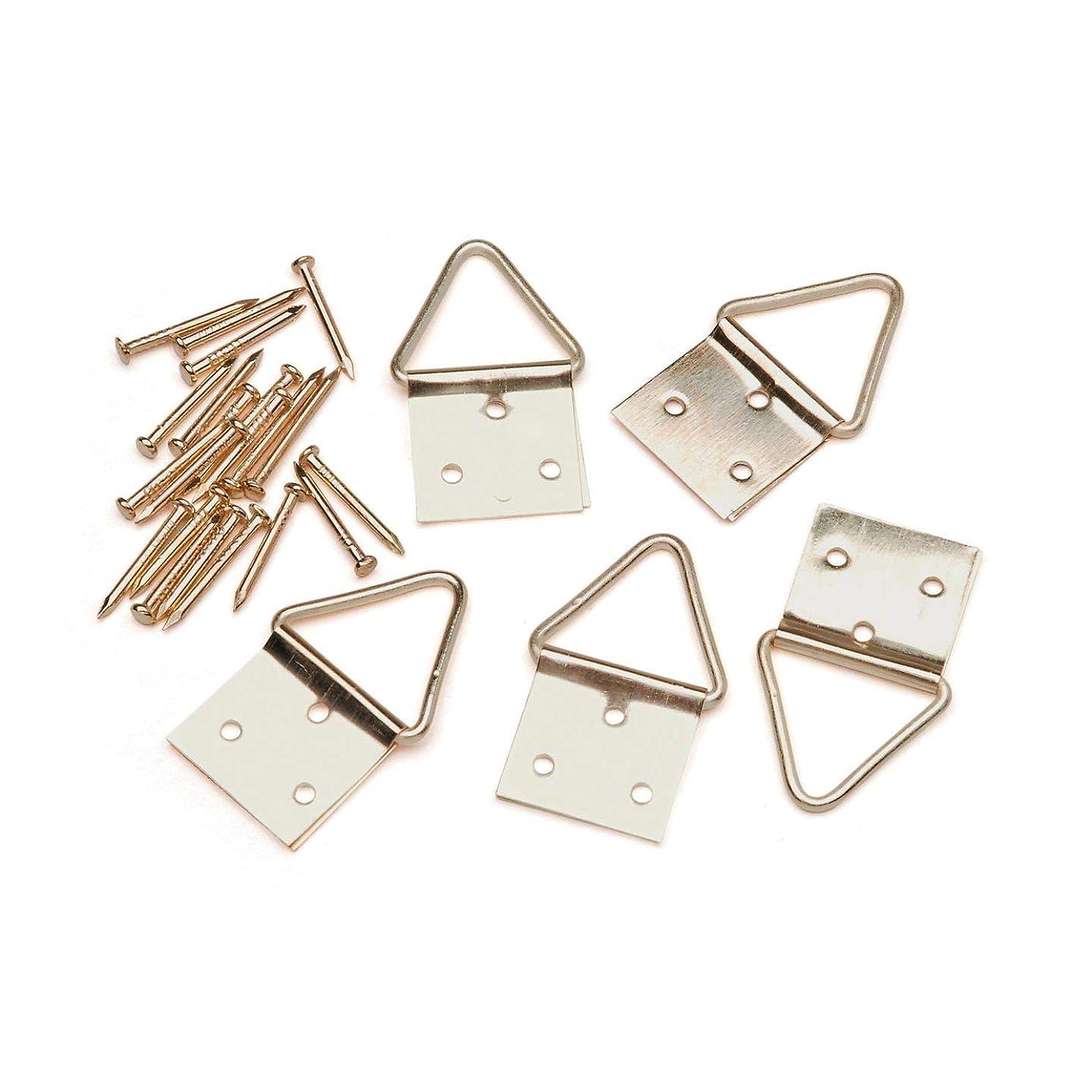 Bulk Buy: Darice DIY Crafts D Strap Hangers Gold 10 pieces (2-Pack) 7000-37