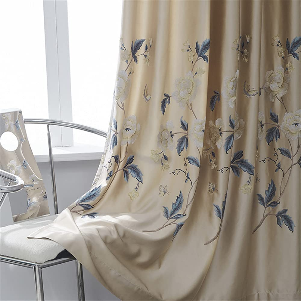 NewWPKIRA Faux Silk Curtain Floral and Semi Butterfy Popularity Embroidered Discount is also underway