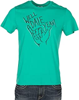 Rock and Roll Cowboy Mens Dale Brisby Well Dale Yeah Tee XXL Green