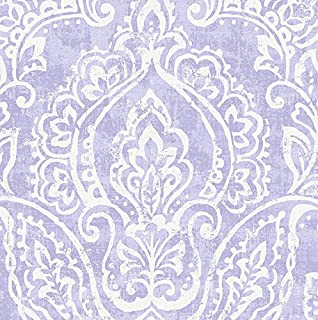 Carousel Designs Lilac Vintage Damask Fabric by The Yard - Organic 100% Cotton