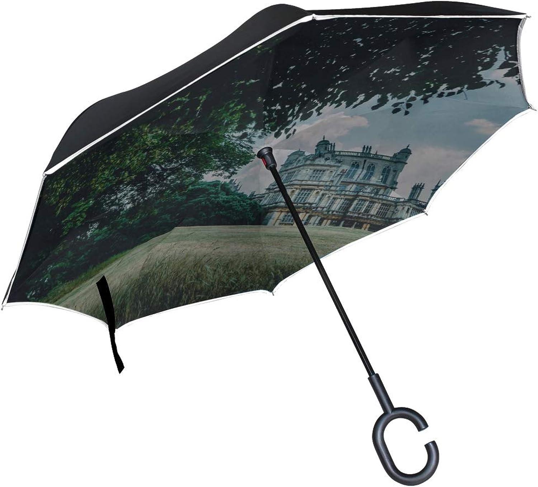 Rh Studio Ingreened Umbrella Castle Palace Manor Large Double Layer Outdoor Rain Sun Car Reversible Umbrella