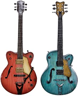 Deco 79 Metal Guitar Wall Décor, 35 by 14-Inch, 2 Assorted