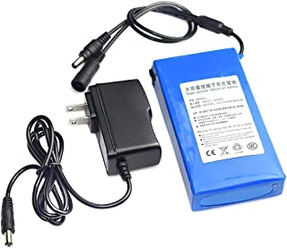 Sonmer DC 12V Super Rechargeable Li-ion Lithium Battery Pack,with US Plug (9800mAh)