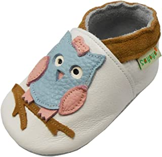 Sayoyo Baby Owl Shoes Soft Leather Sole Infant Toddler Prewalker Shoes