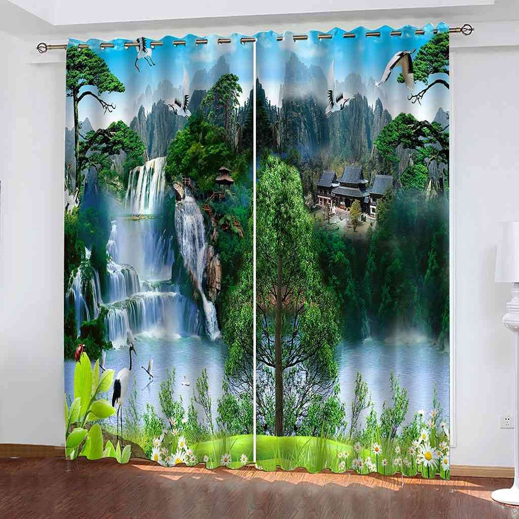 CUYQNS 3D Ranking TOP1 Blackout Darkening Curtains Bedroom for Insula Thermal Max 88% OFF