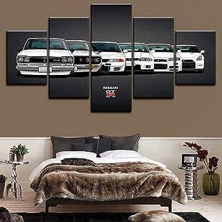 لوحة قماشية لتزيين الحائط من QQYYYT GTR بتصميم تطور الأفق لوحة قماشية 5 قطع من اللوحة القماشية على قماش عدة عناصر لتزيين ا...