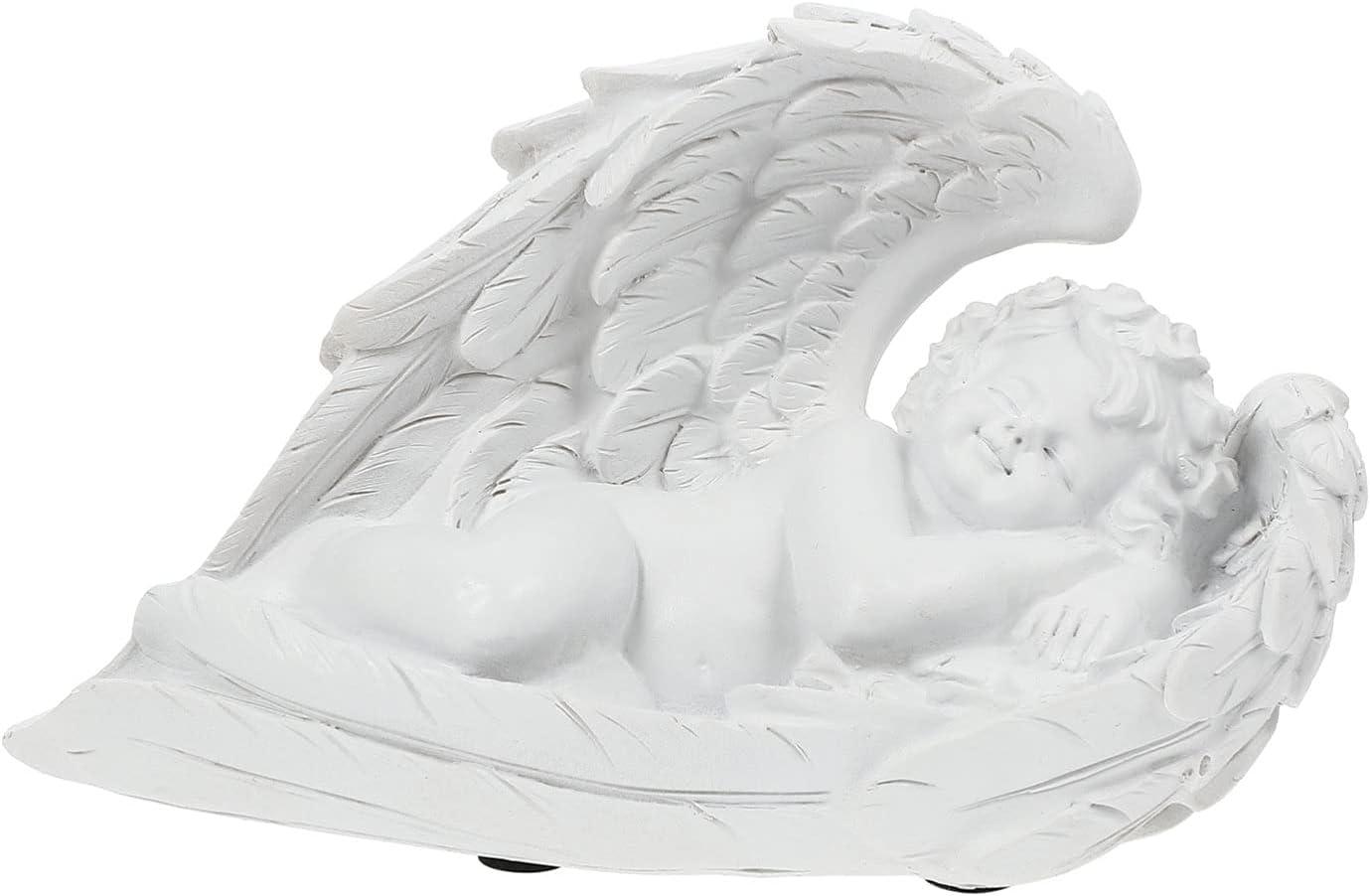 IMIKEYA Angel Cupid Garden Statue Marker Memorial S Manufacturer regenerated product Large discharge sale Grave