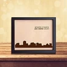 Lik301 Leather Engraved Wedding Third Anniversary Salt Lake City Longitude Latitude Personalized Gift Place Wedding Date Wedding