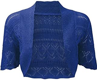 CARCOS Women Lace Shrugs 3//4 Sleeve Bolero Top Ladies Cardigan with Button