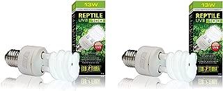 Exo Terra Repti-Glo 5.0 Compact Fluorescent Tropical Terrarium Lamps, 13 Watt (2 Pack)