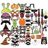 Longsing Foto Accessori Decorazioni, 59 Pezzi Articoli per Feste per Halloween Photo Props...