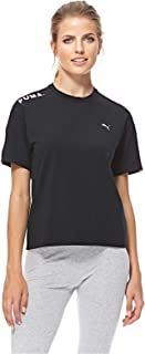 Puma Chase Tee For Women, Size XS Black & Pink