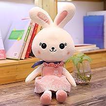 Moonyue Cute Queen Princess Rabbit Toy de Peluche Bunny Doll Bed Doll Girl Sleeping Pillow Decoration Niño Regalo de cumpleaños Pink 1.1 Metro