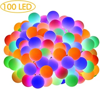 Multicolor Led String Lights,Globe String Lights Indoor Outdoor 34Ft 100LED String Lights Plug in UL Listed Remote,IP65 Waterproof Xmas Decorative Starry String Lights for Bedroom,Patio,Party