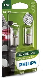 Philips 12821LLECOB2 LongLife EcoVision R5W signaallamp 12821LLECOB2, blisterverpakking met 2 stuks