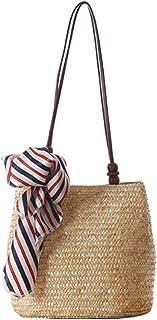 ZUMUii Butterme Frauen Strand Schultertasche Sommer Stroh Tote Strand Tasche Einkaufen Handtasche Hobo Handtasche