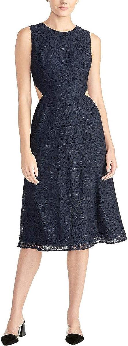 RACHEL Rachel Roy Womens Elana Sleeveless Lace Midi Dress