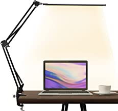 LED Desk Lamp,brightower Adjustable Swing Arm Table Lamp with Clamp,Eye-Caring Architect Desk Light,Dimmable Lamp for Home...