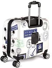 ZKKWLL Mochila para Mascotas Elementos Esenciales de Viaje de la Caja para Perros, Equipaje, Equipaje, Trolley para Mascotas Mochila Gato (Color : B)