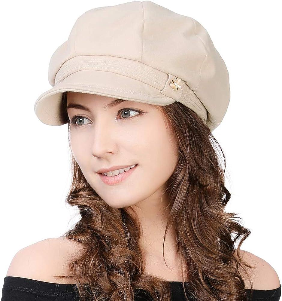 Jeff Aimy Women's Newsboy Soft Velvet Hat Boy Very Rapid rise popular Baker Cap Winter