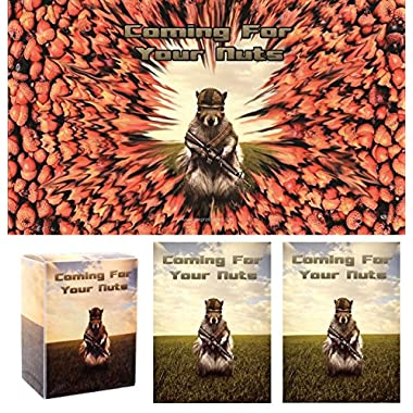 Coming for your NUTS! Squirrel Playmat + DECK BOX + 100 Matching GLOSS Finish Sleeves (fits Magic / MTG Cards) by MAX PRO