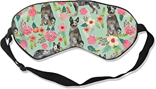 Australian Cattle Dog Florals Silk Sleep Mask Comfortable Blindfold Eye mask Adjustable for Men, Women or Kids