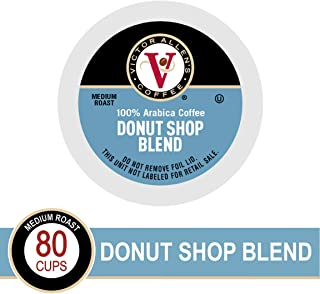 Donut Shop Blend for K-Cup Keurig 2.0 Brewers, Victor Allen's Coffee Medium Roast Single Serve Coffee Pods, 80 Count