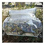 HLLING Lona Impermeable Transparente con Ojales Cortina De Lluvia para Balcón Plegable Hoja De Planta 0,35mm De Espesor para Cobertizo De Invernadero (Color : Clear, Size : 2.55x5m)