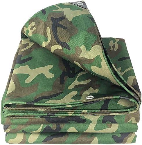 Bache de tente La toile de coton de bache de camouflage de Woodland imperméabilisent le froid résistant à l'humidité résistant à la pluie de crème solaire pour le revêtement de sol en cuir de camping