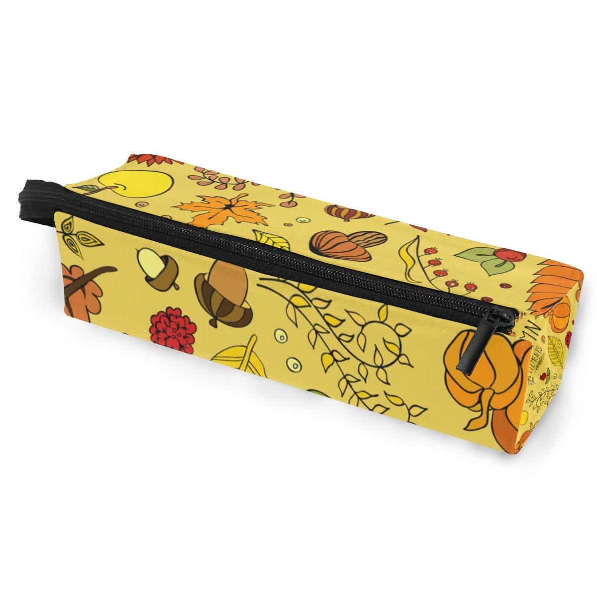 Estuche de bolsa de lápiz Gafas de sol Patrón de otoño de dibujos animados Estética Estudiantes Papelería Bolsa Cremallera para niñas Niños: Amazon.es: Oficina y papelería
