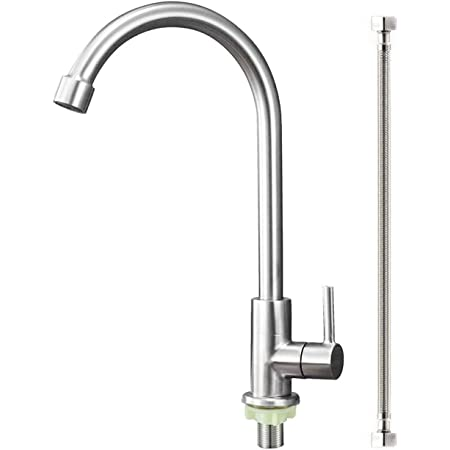 Lead-Free Single Handle Chrome//White High 12.2 INCH-Arc Spout CLEANFLO 88809-20 Kitchen Faucet,1 Hole or 8 inch Center Hole Installation 2 Spray Settings,Metal body with Advanced Polymer Materials,Non Corrosive