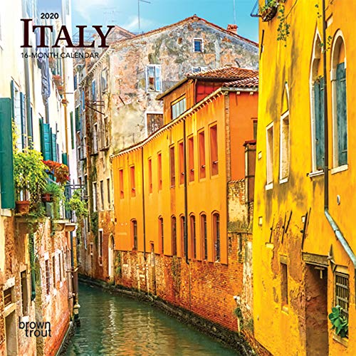 Italy 2020 7 x 7 Inch Monthly Mini Wall Calendar, Scenic Travel Europe Italian Venice Rome (English, French and Spanish Edition)