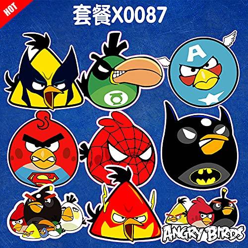 YOUKU Angry Birds, Maleta disfrazada, Maleta, Nevera, monopatín, Ordenador, Coche eléctrico, Pegatina para Tableta