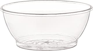Fineline Settings Round Dessert 6 oz | Clear | Savvi Serve Collection | Pack of 20 Plastic Bowl