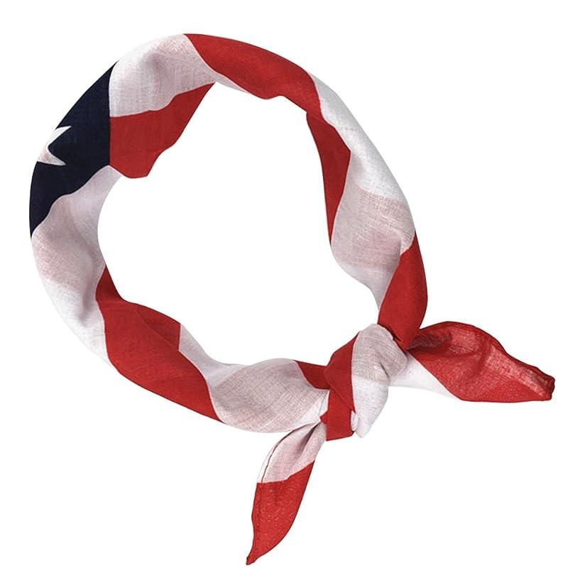 トリプル論争地質学BESTOYARD 愛国心のヘッドバンド7月4日の頭巾ケーキの国旗髪バンド布スカーフのための独立記念日