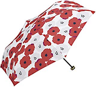 ワールドパーティー(Wpc.) 雨傘 折りたたみ傘  レッド 赤  50cm  レディース ジッパーケースタイプ ピオニ ミニ 552-116 RD