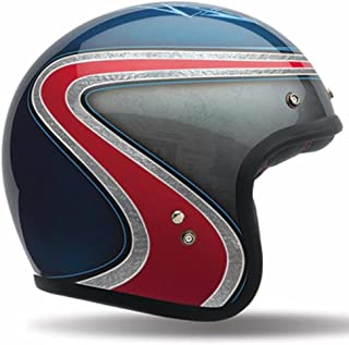 Bell Custom 500 Special Edition Open-Face Motorcycle Helmet (Airtrix Heritage Blue/Red, Medium)
