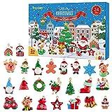 Toyvian, 24 decorazioni da appendere, con animali di Natale, decorazioni natalizie per albero di Natale, calendario dell'Avvento 2021