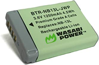 Wasabi Power NB-13L Battery for Canon PowerShot G1 X Mark III, G5 X, G7 X, G7 X Mark II, G9 X, G9 X Mark II, SX620 HS, SX7...