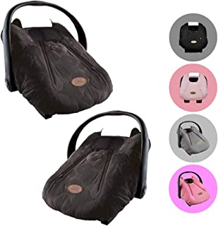 Cozy Cover Infant Car Seat Cover (Black Quilt) - The Industry Leading Infant Carrier Cover Trusted by Over 6 Million Moms Worldwide for Keeping Your Baby Cozy & Warm