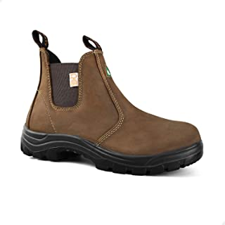 Women's Leather Steel Toe Boots, Breathable, Comfortable, Lightweight Safety Toe Work Boots 925