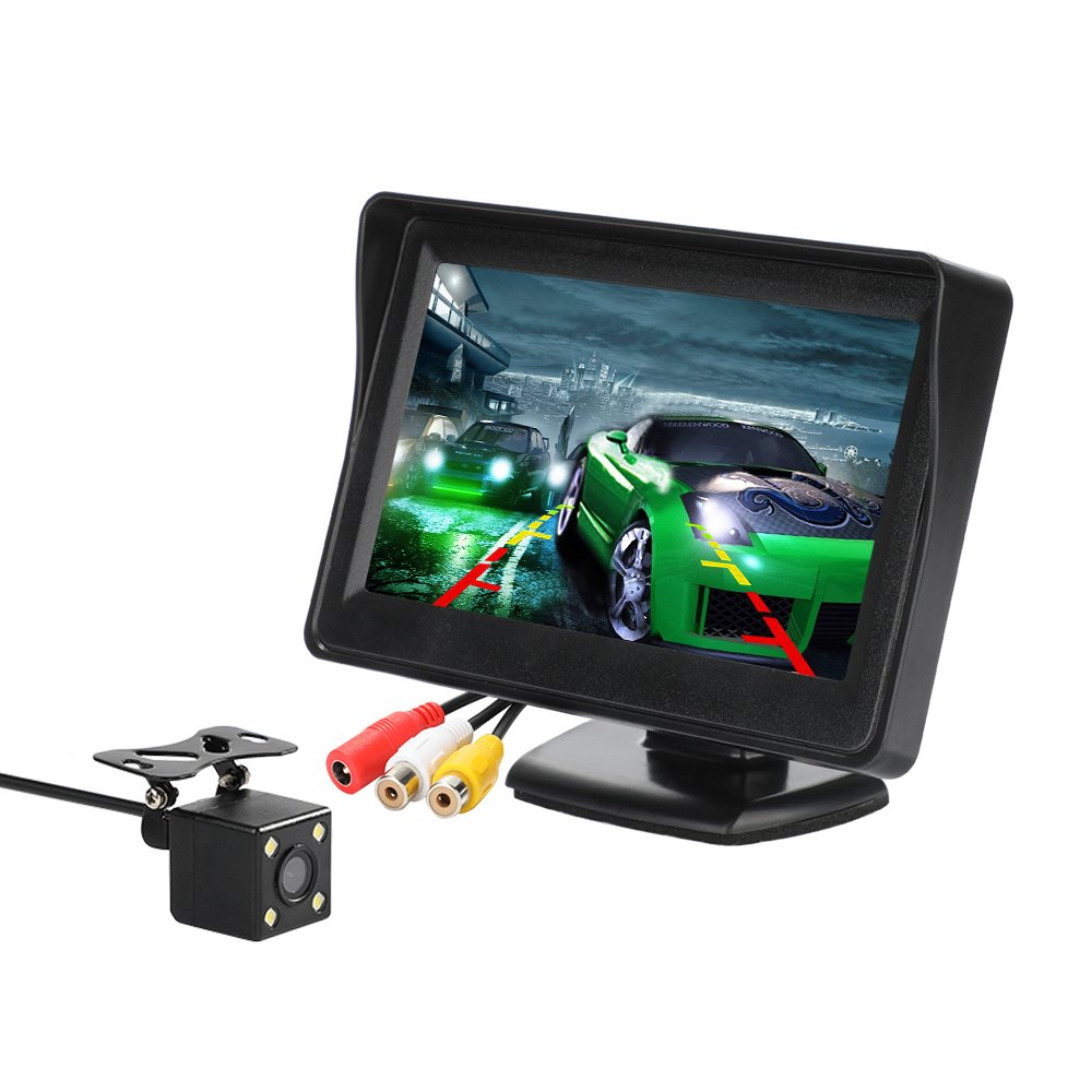 MiCarBa Car Backup Camera 2-in-1 18.5mm Flush Mount Reverse Camera /& Bracket Mount HD Color CMOS Auto Rear View Camera Waterproof Front CAM CL1103D2in1