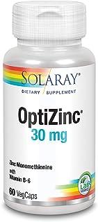 Solaray Optizinc Supplement, 30 mg | 60 Count