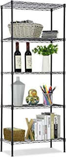 Wire Shelving Unit, NSF 5-Tier Layer Shelf Utility Steel Commercial Grade Storage Shelves 24