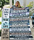 RosyyShop to My Girlfriend Never Forget I Love You You're My Love Your Boyfriend White Cozy Plush Fleece Blanket 30x40; 50x60; 60x80 Inch Made in US