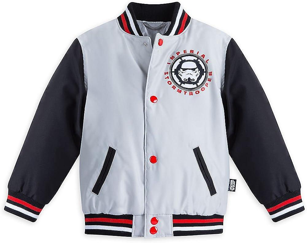 STAR WARS Boys Stormtrooper Varsity Jacket Grey