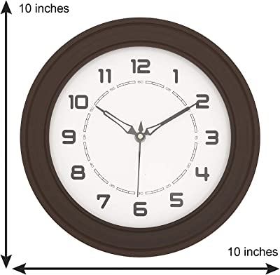 Chronikle Brown Wooden Round dial Contemporary Analog Wall Clock (25cmx 25cmx 4cm)